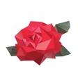 Geometric flower vector image