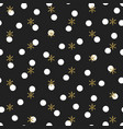 glitter gold polka dot christmas new year seamless vector image vector image