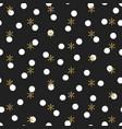 glitter gold polka dot christmas new year seamless vector image vector image