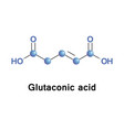 glutaconic acid organic compound vector image