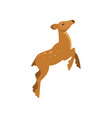 graceful spotted fallow roe deer jumping wild vector image vector image