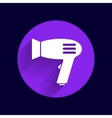 Hairdryer sign icon Hair drying symbolBlowing vector image