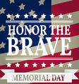 Happy Memorial Day Memorial Day greeting card vector image vector image