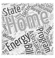 Home Energy Assistance Program Word Cloud Concept vector image vector image