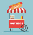 hot dogs street cart vector image