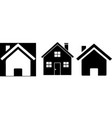 houses icon on white background vector image vector image