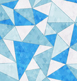 ice triangle seamless pattern vector image vector image