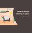 interior design website banner template vector image