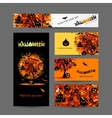 Invitation cards for halloween party for your vector image vector image