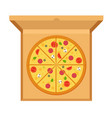 large pizza with tomatoes cheese mushrooms olives vector image vector image