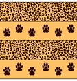 leopard background with traces vector image