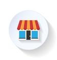 Market flat icon vector image vector image