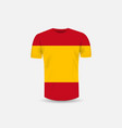 mens t-shirt icon and spain flag backgroundround vector image vector image