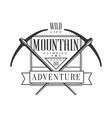 mountain climbing adventure logo mountain hiking vector image vector image