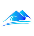 mountain nature terrain logo vector image