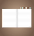 Notebook with reminder note EPS10 vector image vector image