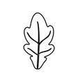 oak leaf black color icon vector image vector image