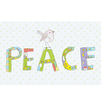 Peace background with sign and bird vector image