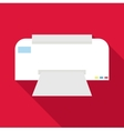 Printer icon flat style vector image vector image