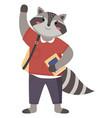 raccon funny animal student lovely cute raccoon