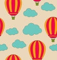 retro seamless travel pattern air balloons and vector image vector image