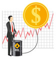 rise of oil prices concept vector image