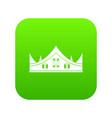 royal crown icon digital green vector image vector image