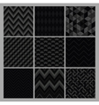 Seamless black geometric hipster background set vector image vector image