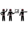 set silhouettes black man vector image