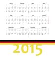 Simple german 2015 year calendar vector image vector image