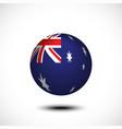 spherical flag australia 3d rendering vector image