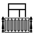 square balcony icon simple style vector image vector image