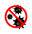 stop virus black virus outbreak protection vector image vector image