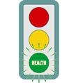 Traffic lights symbol Flashing green vector image vector image