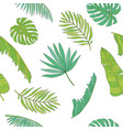 tropical leaves various shapes seamless pattern vector image vector image