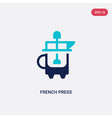 two color french press icon from drinks concept vector image vector image