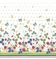 vintage berries leaves fruit moth butterfly vector image vector image