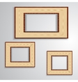 Vintage isolated blank frame vector image vector image