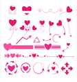 Wedding graphic set vector image vector image