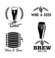 wine and beer vintage labels set vector image vector image