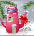 winter fairy tale vector image vector image