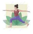 woman in yoga pose vector image vector image