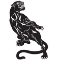 panther tattoo black white vector image