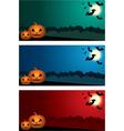 Three Halloween banners vector image