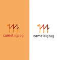 Camel in the form of a zigzag vector image
