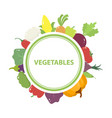 vegetables poster with circle and round decorative vector image