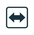2 side arrow icon Rounded squares button vector image vector image