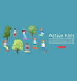 active kids boys and girls skating on skateboard vector image vector image