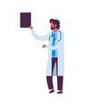arab man holding clipboard medical doctor vector image vector image