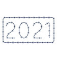 barbed wire 2021 lettering